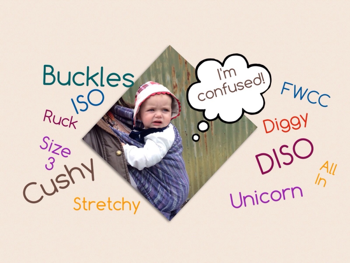 Sling Slang - a guide to baby carrier terms